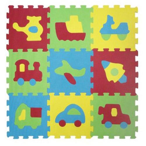 Covoras-puzzle cu vehi...