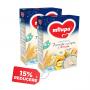 Pachet 2 x Cereale Milupa Vise Placute 7 Cereale cu lapte si 4 fructe, 250 g, 6 luni+