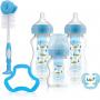 Set biberoane anticolici Options Plus Dr. Brown's, gat larg, PP, cu accesorii, Albastru