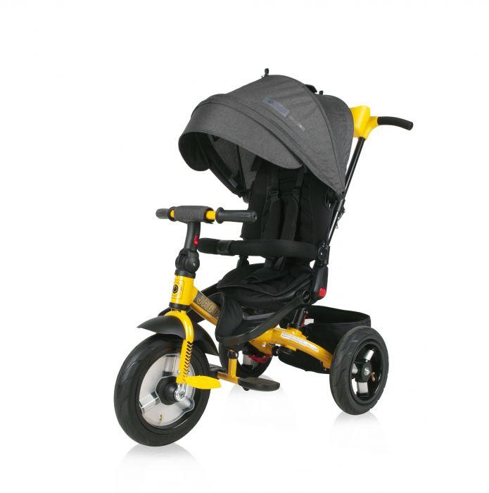 Tricicleta Jaguar Air Wheels Lorelli Black & Yellow, 12 luni+, Galben/Gri