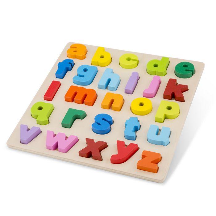 Puzzle Alfabet Litere Mici New Classic Toys, 24 luni+
