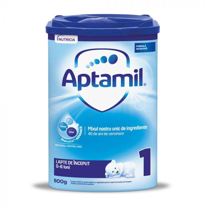 Lapte praf Nutricia Aptamil 1, 800 g, 0 - 6 luni