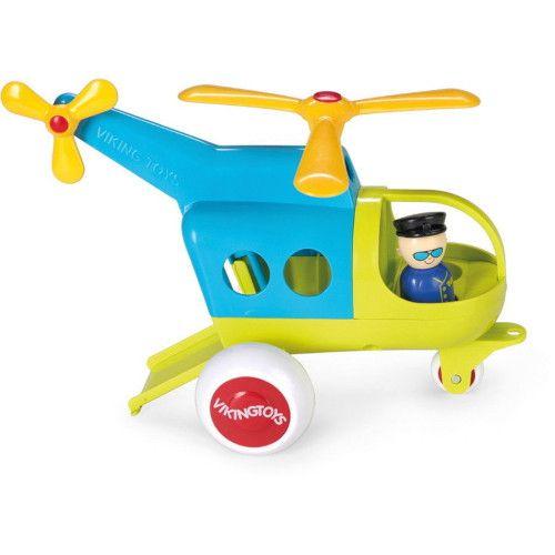 Elicopter culori vesele Jumbo VikingToys, cu 2 figurine, 12 luni+