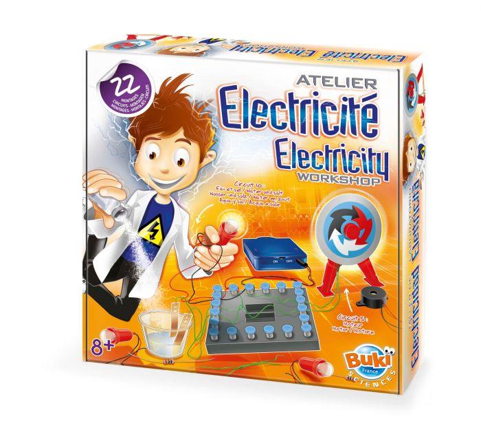 Atelierul de electricitate Buki, 22 circuite, 8 ani+