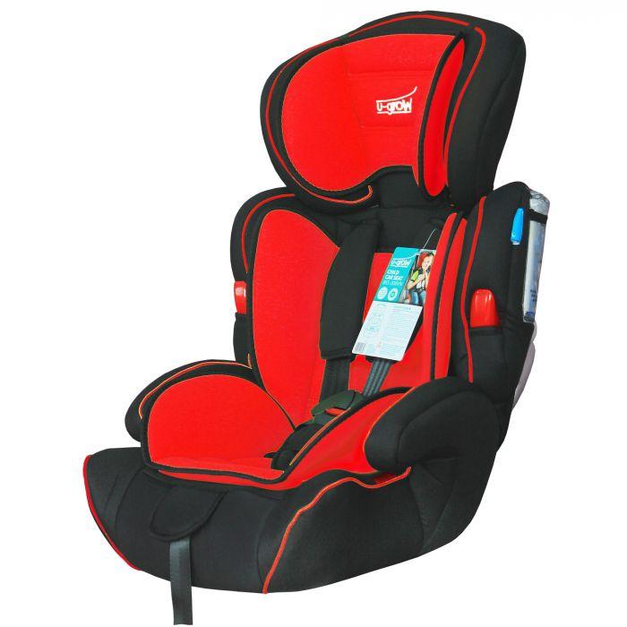 scaun auto u-grow rosu negru 9-36 kg