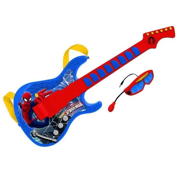Chitara Spiderman Reig Musicales, cu ochelari si microfon, 36 luni+