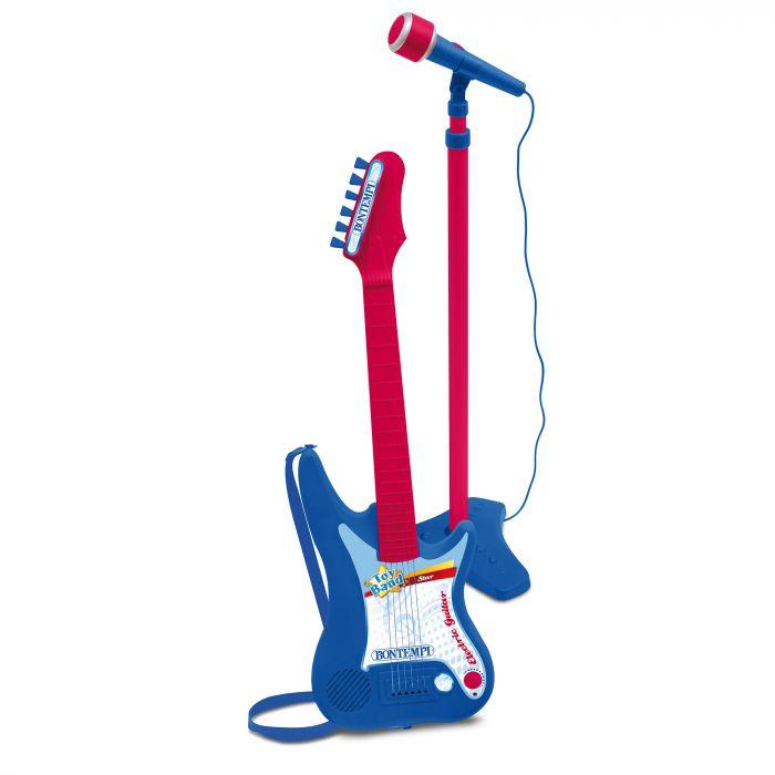 Chitara electronica cu microfon si stativ Bontempi