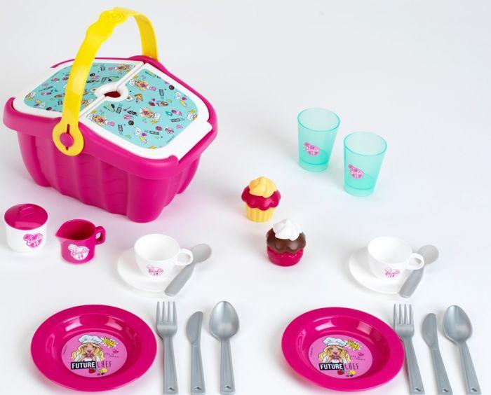 Cos picnic Barbie Klein, cu accesorii, 36 luni+
