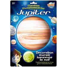 Decoratiune perete fosforescenta Planeta Jupiter Buki, 5 ani