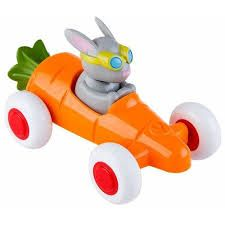 Iepuras in Masinuta Morcov Cute Racer VikingToys, 12 luni+