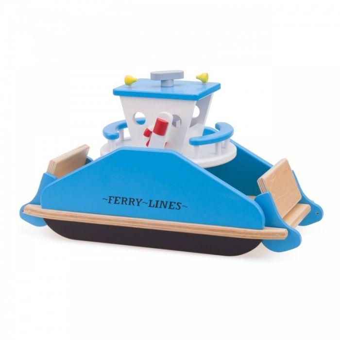 Feribot New Classic Toys, din lemn, 36 luni+