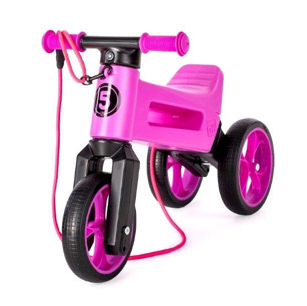 Bicicleta fara pedale 2 in 1 Rider SuperSport Funny Wheels Violet, 12 luni+