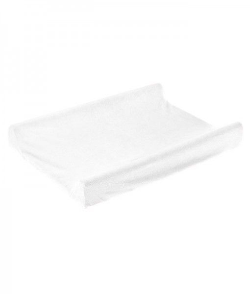 Husa saltea de infasat Sensillo White, bumbac, 70x50 cm