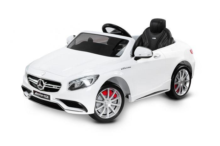 Masinuta electrica 12V Mercedes-Benz S63 AMG Toyz White, cu telecomanda