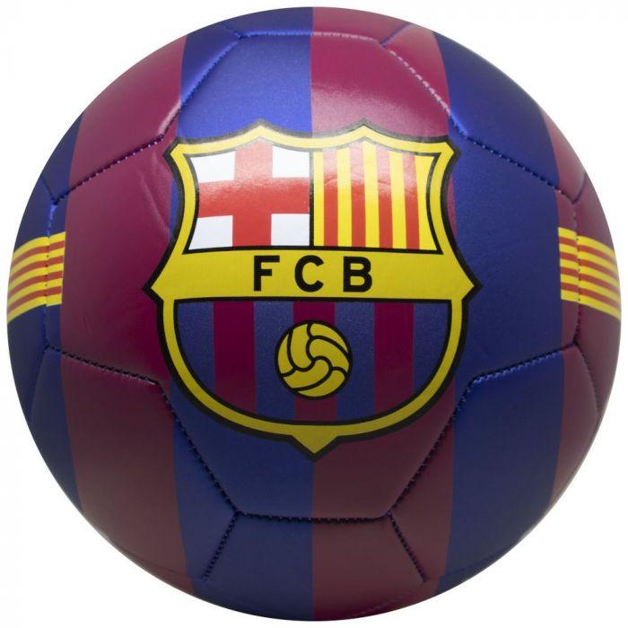 Minge de fotbal FC Barcelona Logo HOME, marimea 5, mata metalica