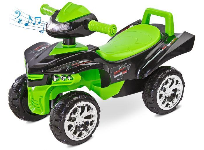 Ride-on 2 in 1 Mini Raptor Toyz, cu sunete si lumini, 18 luni+, Verde