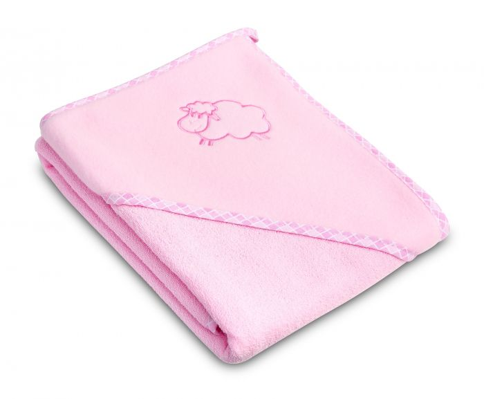 Prosop cu gluga Sheep Sensillo Pink, 80x80 cm