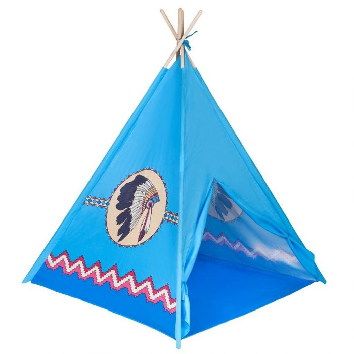 Cort PlayTo Teepee Indian, 36 luni+, Albastru