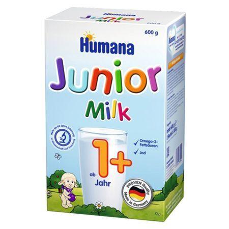 Lapte praf Humana Junior 1+, 600 g, 12 luni+