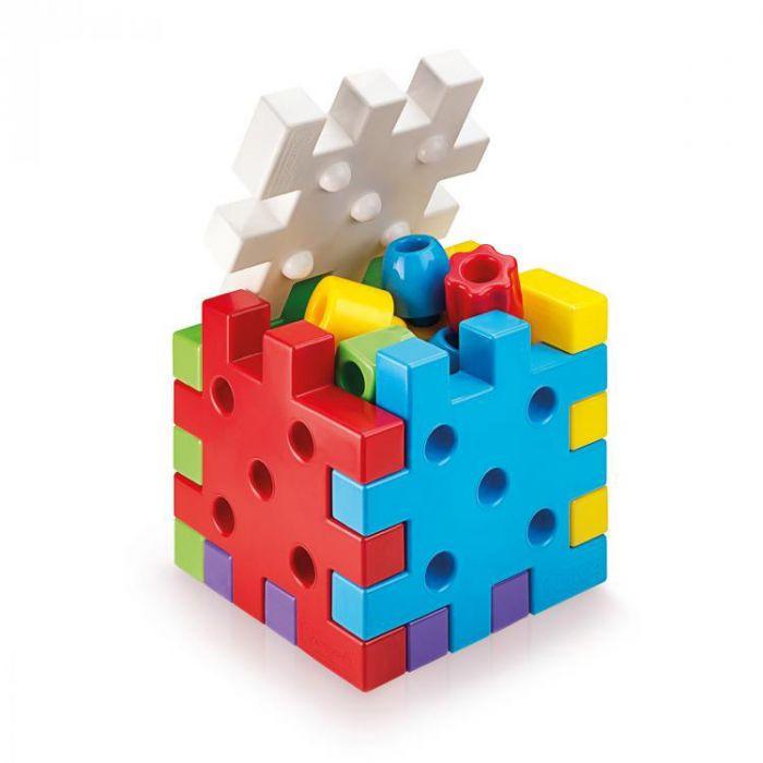 Joc de constructie Qubo 19 piese Quercetti