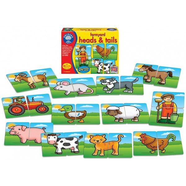 Joc educativ asociere Farmyard Heads & Tails Orchard, 18 luni+