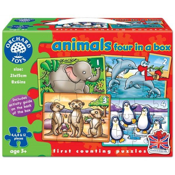 Set 4 Puzzle Animale Orchard, 36 luni+