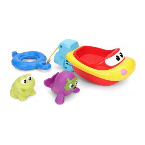 Jucarie de baie barcuta si animale 3 figurine Winfun