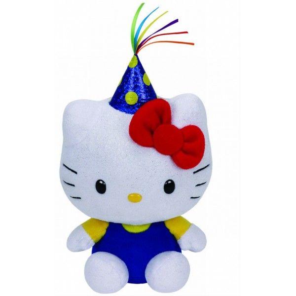 Plus Beanie Babies, Hello Kitty Party TY, 15 cm, 3 ani+