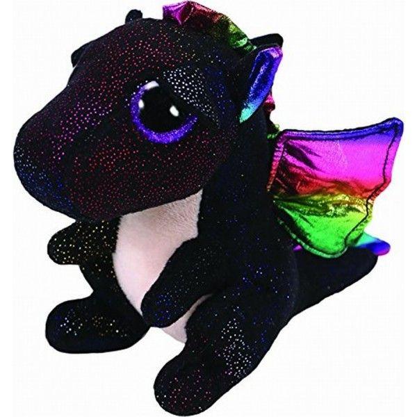 Plus Boos Anora Dragon Negru TY, 24 cm, 3 ani+