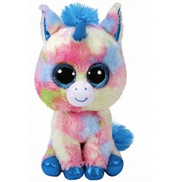 Plus Boos Blitz, Unicorn Albastru TY, 24 cm, 3 ani+