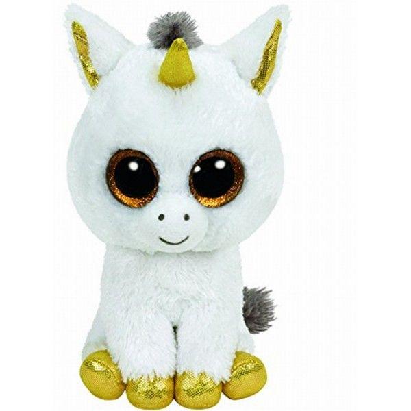 Plus Boos, Pegasus Unicorn Alb TY, 24 cm, 3 ani+