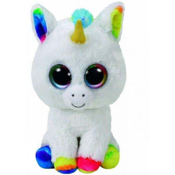 Plus Boos, Pixy Unicorn Alb TY, 24 cm, 3 ani+
