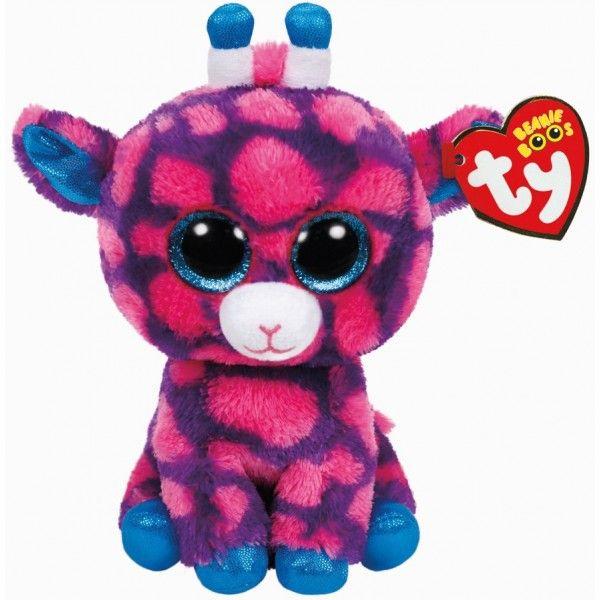 Plus Boos, Sky Girafa Roz TY, 15 cm, 3 ani+