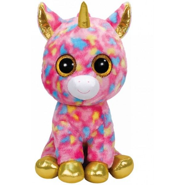 Plus Boos, Unicorn Multicolor TY, 42 cm, 3 ani+