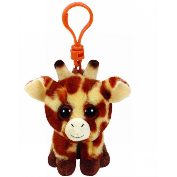 Plus Breloc, Boos Girafa Peaches TY, 8.5 cm, 3 ani+