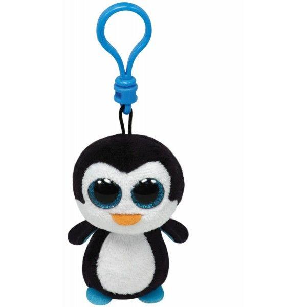 Plus Breloc, Boos Pinguinul Waddles TY, 8.5 cm, 3 ani+