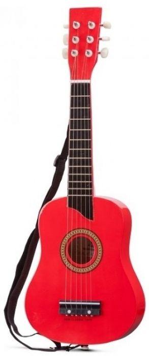 Chitara New Classic Toys, din lemn, 36 luni+, Rosu