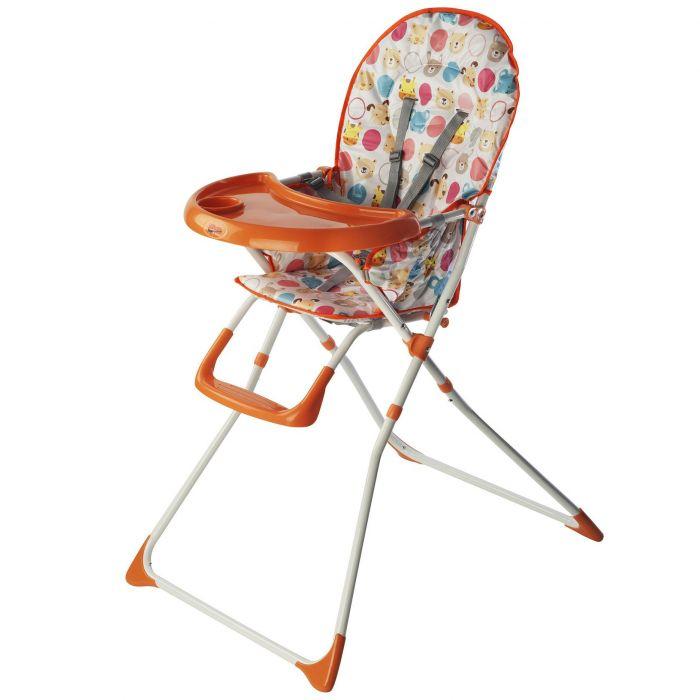 scaun de masa bebe portocaliu husa animalute