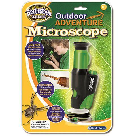 Microscop portabil cu LED Brainstorm, 6 ani+