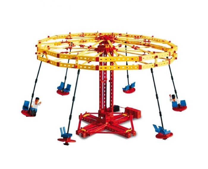 Set constructie Advanced Super Fun Park Fischertechnik, 3 modele, 7 ani+