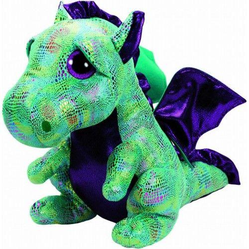 Plus, Boos Cinder Dragon Verde TY, 15 cm, 3 ani+