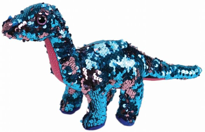 Plus Boos, Dinozaur Marin Cu Paiete TY, 15 cm, 3 ani+