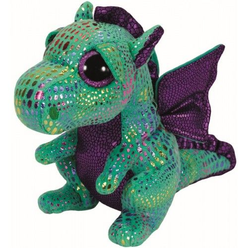 Plus Boos, Cinder Dragon Verde TY, 24 cm, 3 ani+