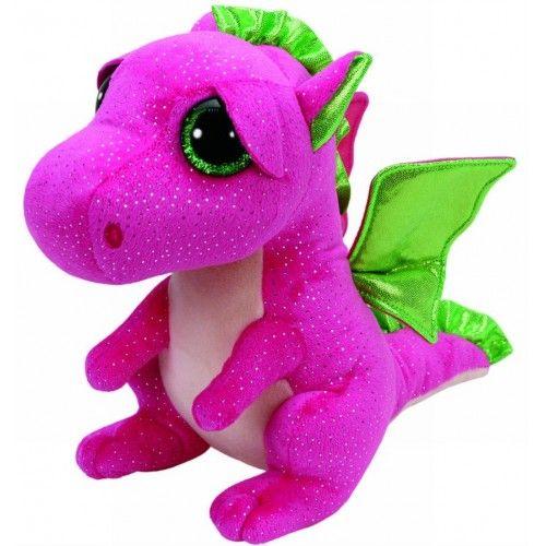 Plus Boos, Darla Dragon Roz TY, 24 cm, 3 ani+