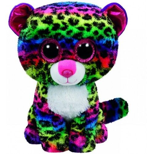 Plus Boos, Dotty Leopard Multicolor TY, 24 cm, 3 ani+