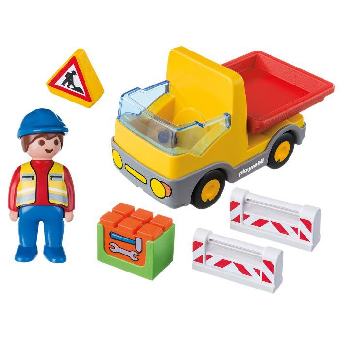 set figurine camion constructii jucarie playmobil