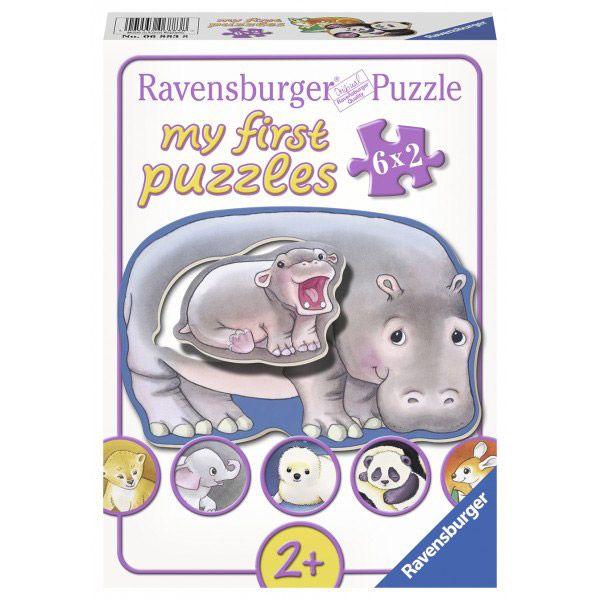 Primul meu puzzle cu animalute 6 x 2 piese Ravensburger