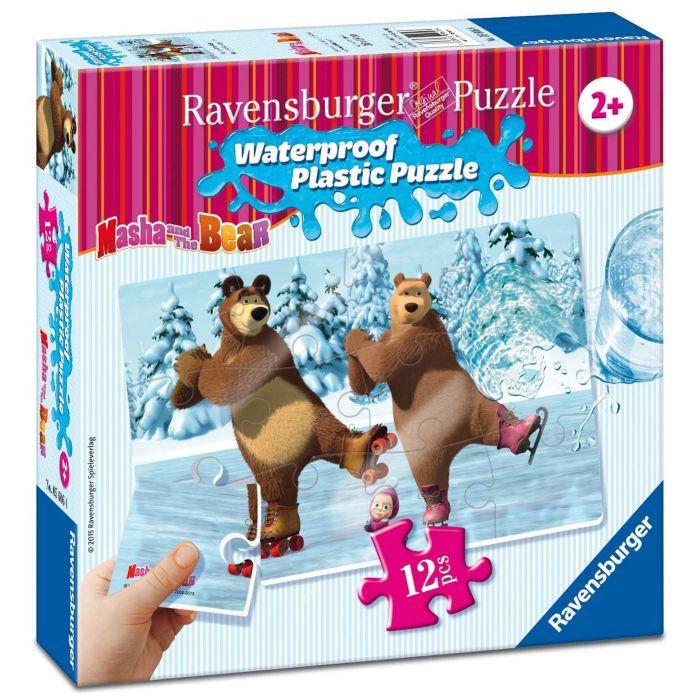 Puzzle Masha si ursul 12 piese rezistente la apa Ravensburger