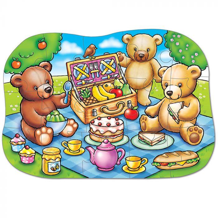 puzzle ursuleti picnic 15 piese multicolor
