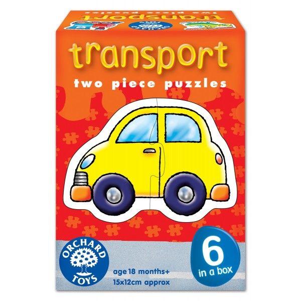 Set 6 Puzzle Transport Orchard, , 18 luni+